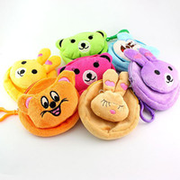 Wholesale Cartoon round purse Fashion lovely flannelette purse