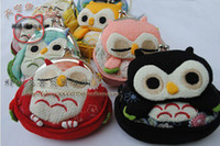 Wholesale new cute Owl style small Portable Wallet coin purse Japan Style