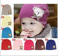 Boy baby bear pattern - fashion baby bear pattern hat baby cap infant hat infant caps