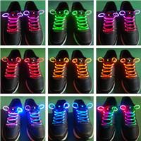 Wholesale LED Light Up Flash Glow Shoelaces Disco Strap Lamps Stick shoestring