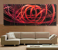 Carved metal wall art - Modern contemporary abstract painting metal wall art sculpture wall hanging decorations A367