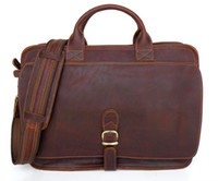 Wholesale 6020 Real Crazy Horse Leather Men s Briefcases Handbag Bag Laptop bag Hot Selling