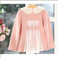 baby girl kids lace coat flower floral tutu tops lace trench...