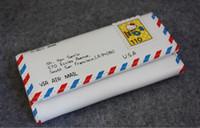 Men aluminum envelopes - Creative air mail envelope purse ladies wallet hot sale PU cartoon purse