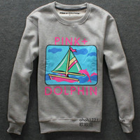 Wholesale Pink Dolphin T Men s hoodie autumn and winter clothing hip hop long sleeve hoodie bb