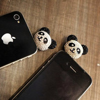 Earphone Jack Plugs 3.5mm Apple iPhones Min.order is $10(Mix order) Free Shipping Wholesale and Retail Cell Phone Accessories Panda Dust Plu
