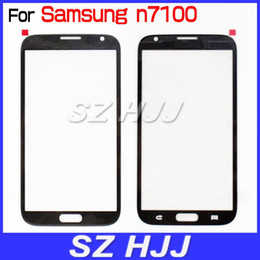 For Note 2 Gray Touch Screen Cover Outer Screen Glass Lens Replacement For Samsung Galaxy Note II N7100