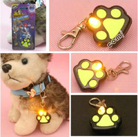 Wholesale LED Dog Tags Pet Supplies Safety Dog Travel outdoor Puppy Pendant with card information hot selling