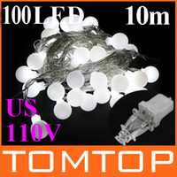 Wholesale Party LED M White light ball Christmas Decoration String Lights with DC Joint US V H8985W