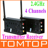 Wholesale 2 GHz Channels A V Audio Video Sender Wireless Transmitter Receiver TV VCR DVD M V452