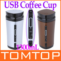 Wholesale Novelty Battery Charging Rechargeable USB Powered Drinkware Coffee Mixing Tea Cup Mug Warmer C1539