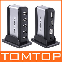 Wholesale 7 Port High Speed USB HUB AC Power Adapter Cable UK US EU Plug Optional for Computer C1082Z