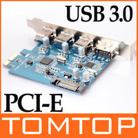 Wholesale USB ESATA III PCI E PCI PCIE Express Card Port with pin SATA Power Connector Adapter C1554