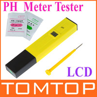 Wholesale Best Sale Mini Digital LCD PH Meter Tester Pen Aquarium Pool laboratory Yellow freeshipping dropshipping H9211