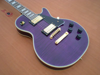 Wholesale New brand electric guitar flamed maple top in purple color