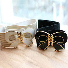 Wholesale Fashion big bowknot lady belts Adjustable belts for women leather waistband waist be
