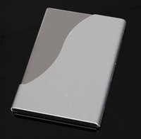 Wholesale 10PCS BLANK ALUMINUM CARD HOLDER METAL POCKET BUSINESS ID CREDIT CASE