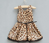 Wholesale autumn girls dress leopard print Children skirt new product Kids Clothing lovely Baby dresses