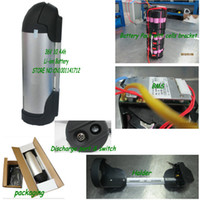 Wholesale bottle type li ion battery v ah with charger and holder for electric bicycle