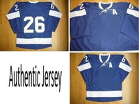 Wholesale Blue Home A Patch Ice Hockey Winter Jerseys TB Authentic Sportswear Jersey Dhdate Jerseys
