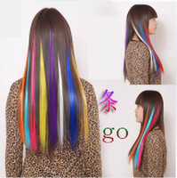 Wholesale Colorful Picks to Dye a False Hair Slice Heat Silk Long Keep a Hair Slice Wig colors