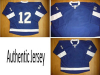 Wholesale Blue Home Ice Hockey Winter Jerseys TB Authentic Sportswear Jersey Dhdate Jerseys Hot Sell