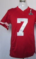 Wholesale 2013 Super Bowl XLVII KAEPERNICK Red Game Men Jersey Football Jerseys Rugby Ball Jersey