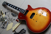 Wholesale Electric Guitar Body With All parts SunBurst mahogany body ebony board fretside binding