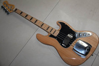 jazz bass - new arrival F jazz string bass Electric BASS Guitar natural wooden