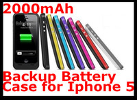 Wholesale Pack Plus mah External Backup Battery Back Cover Charger Case for Apple Iphone G Colors