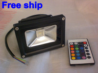 Wholesale 10W W W W W RGB Flood Light Color changing Flash LED Wash Lighting Outdoor Floodlight