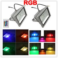 Wholesale Waterproof Remote Control W W W W W RGB LED Flood Light Floodlighting Outdoor lighitng