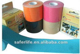 Wholesale saferlife kinesiology tape rolls a for athletes with cotton tape elastic muscle therapy bandage