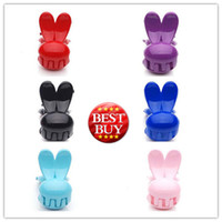 Wholesale Multi Color Hair Clamps Cute Resin Rabbit Shape Clamps Hot Sale Hair Jewelry FS125