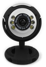Wholesale - USB 6 LED 30.0 Mega pixel pc Webcam +Mic