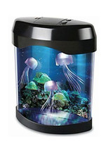 Wholesale 2013 Newest Portable USB LCD Desktop Lamp Light Mini Fish Tank Electronic Jellyfish Aquarium