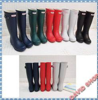 Wholesale Fashion Hunter Rain Boots Low Heels Waterproof Women Wellies Boots Woman Water Sh