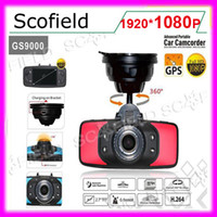 Wholesale GS9000 Full HD P fps inch Degree Wide Angle Car DVR Recorder GPS Motion HDMI AV