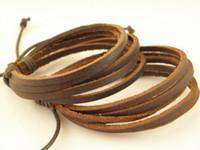 Wholesale Factory Price Genuine Leather Wrap Bracelets Mens Handmade Leather Jewelry
