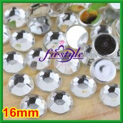 Wholesale nail art acrylic mm Acrylic Flat Back Rhinestones