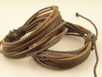 Wholesale Factory Stylish Cow Leather Braided Bracelets For Men Handmade Top Quality