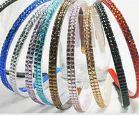Lucite, Plastic plastic headbands - Spark Headbands Multi Color Resin Double Layers Plastic Crystal Headbands Hot Sale FS128