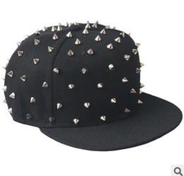 Adjustable Rivet Snapback Hats Caps Snap back Man Studs Punk Rock Hip-hop Gold RIVET Cap Hat