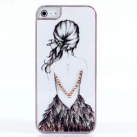 Wholesale Crystal diamond case cover Korea K win beauty drawing hard back case for iphone g