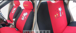 RED Cute cartoon cotton snoopy seat cover pineapple cloth stretch cotton universal car seat cover