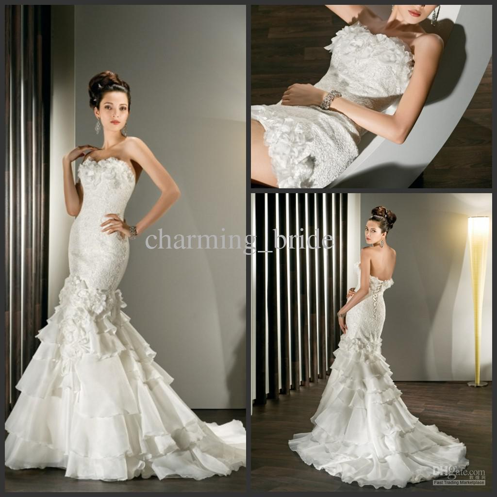 Wedding Dresses With Long Detachable Trains