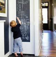 Wholesale 60x200cm Blackboard Chalkboard Wall Paper Sticker Decoration Removable fancy drawing board new hot