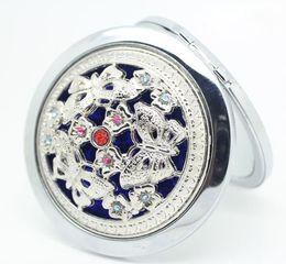 Wholesale - Mixed The metal diamond hollowing makeup mirror