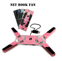 Double Fans Plastic  Notebook Radiator Foldable Mini Laptop Cooling Pads Travel USB 2 Fan Portable and powerful