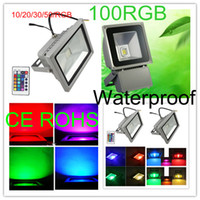 Wholesale 10w w w w W led floodlight V IP65 cold wihte rgb led flood light Fedex